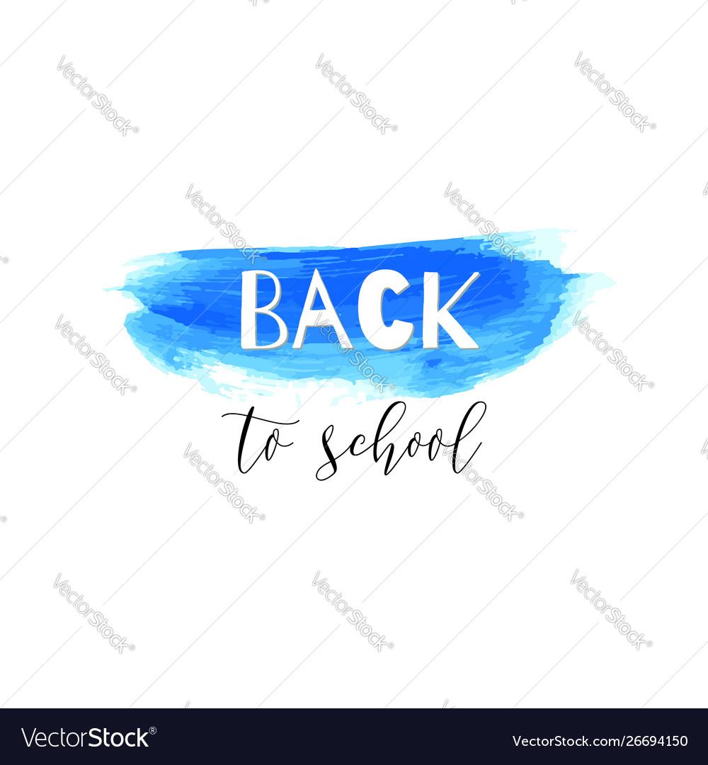 Back to school ink watercolor navy blue splash