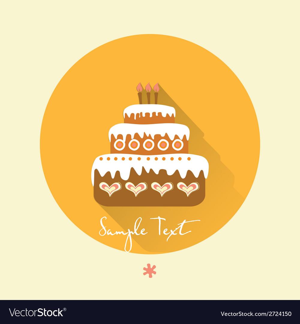 Birthday Cake Royalty Free Vector Image Vectorstock
