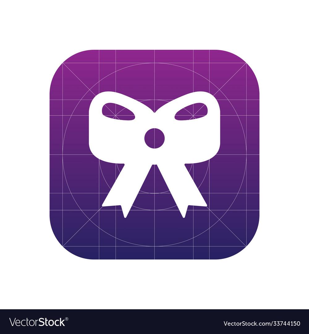 Christmas bow icon sign icon christmas bow
