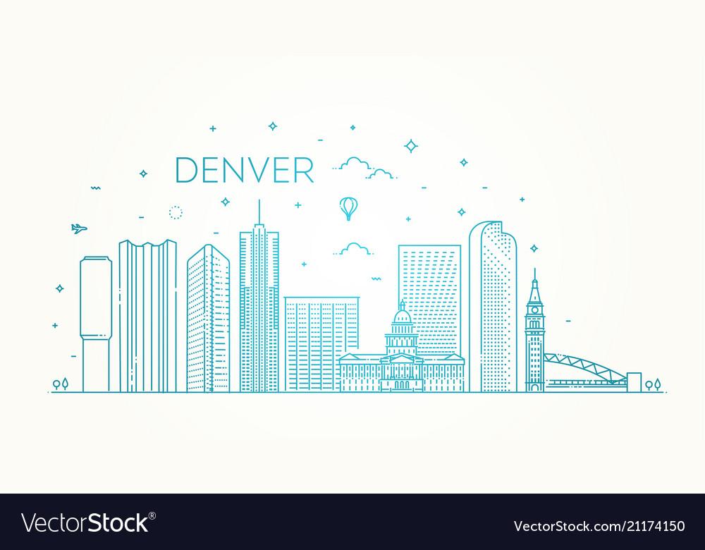 Colorado denver city skyline architecture