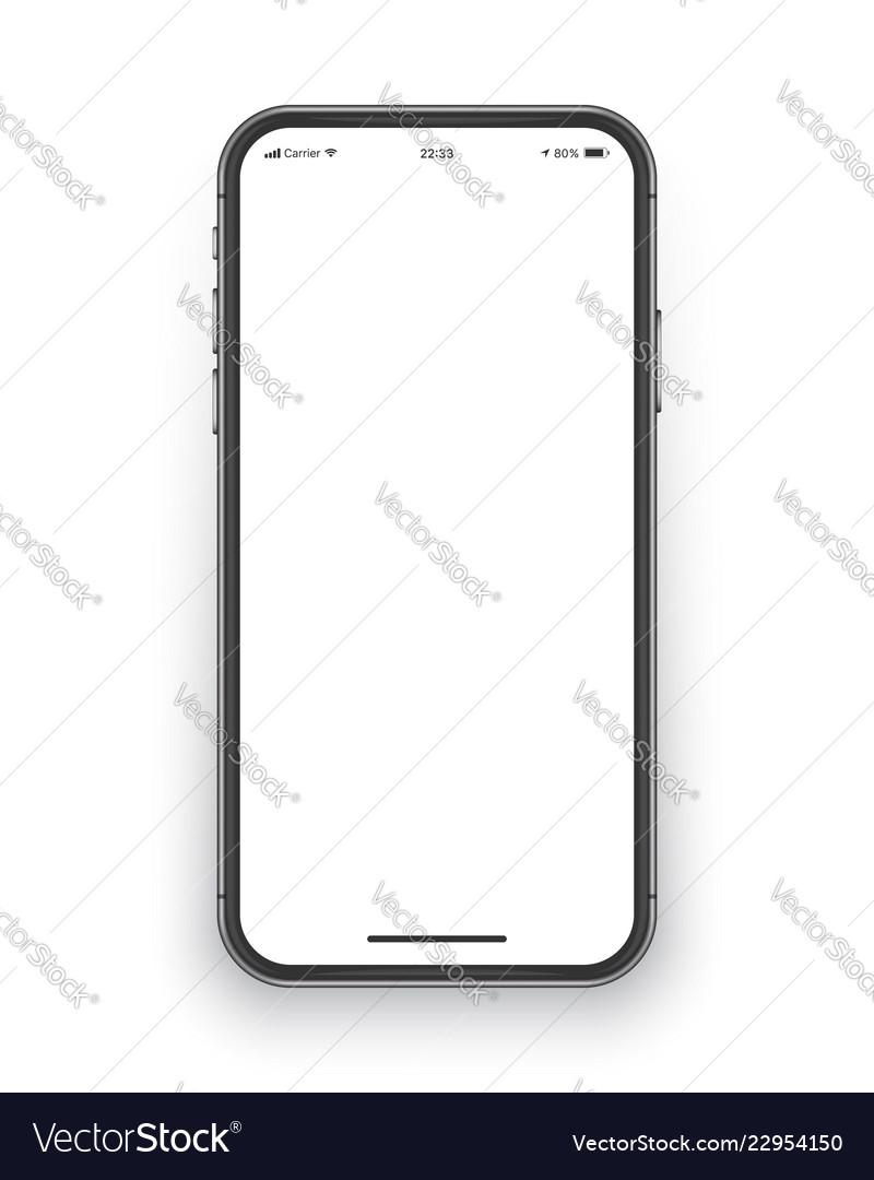 Frameless smartphone screen mockup