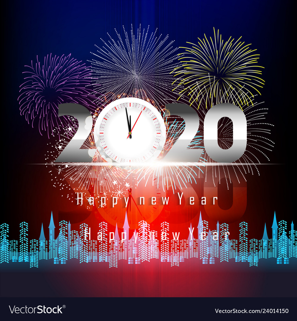 Happy New Year 2020 Banner Clipart