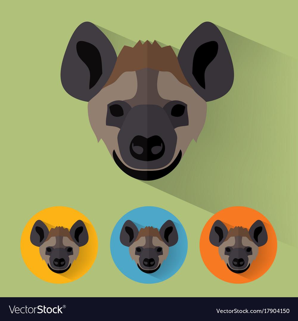 Hyena portrait with flat design vector image