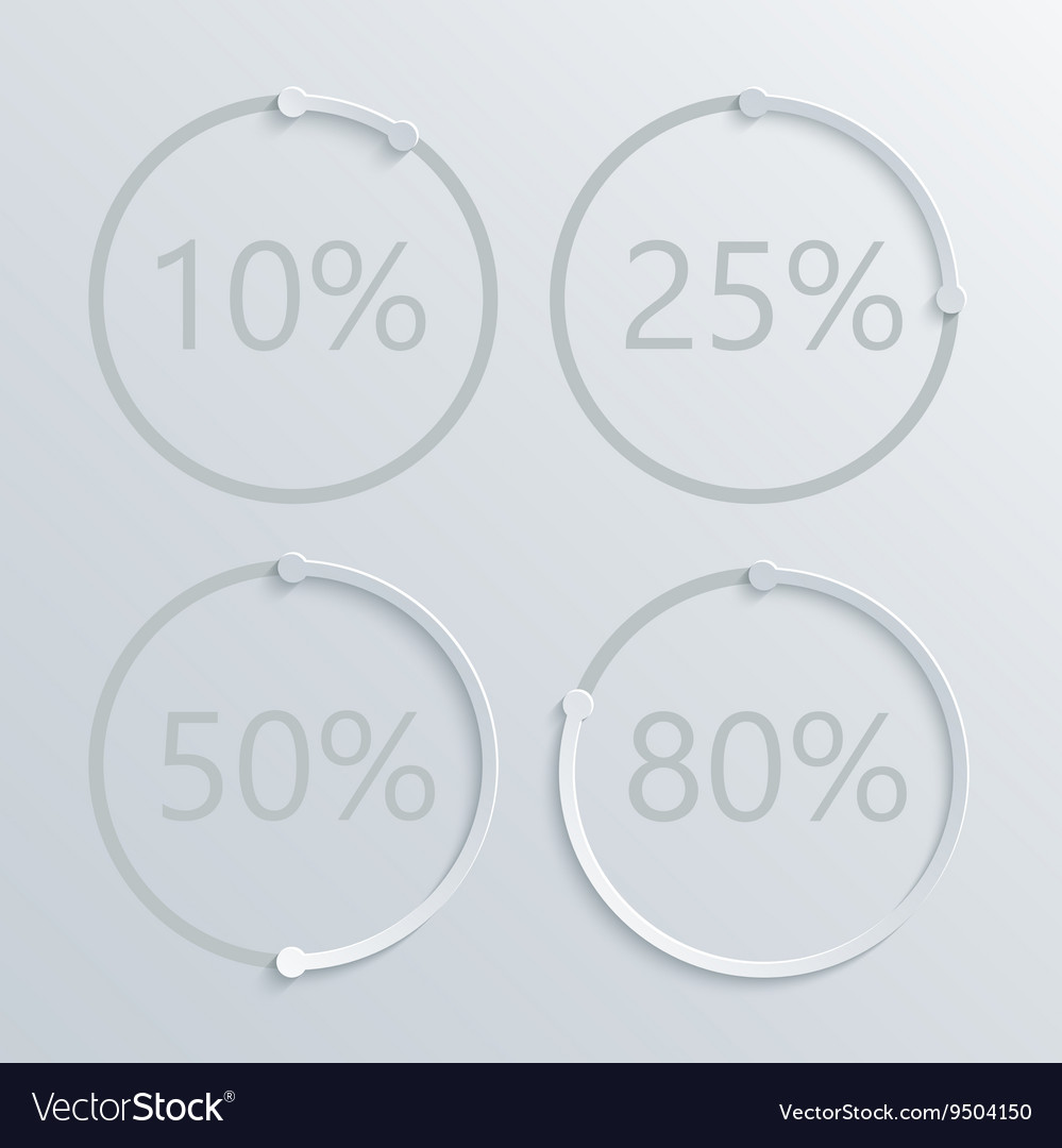 Modern circle percent set background