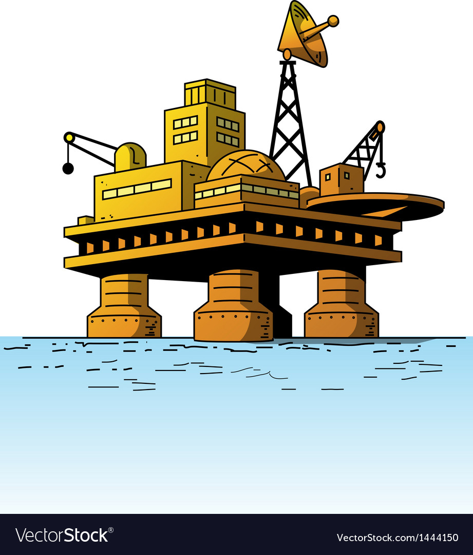 Oil Rig vector image