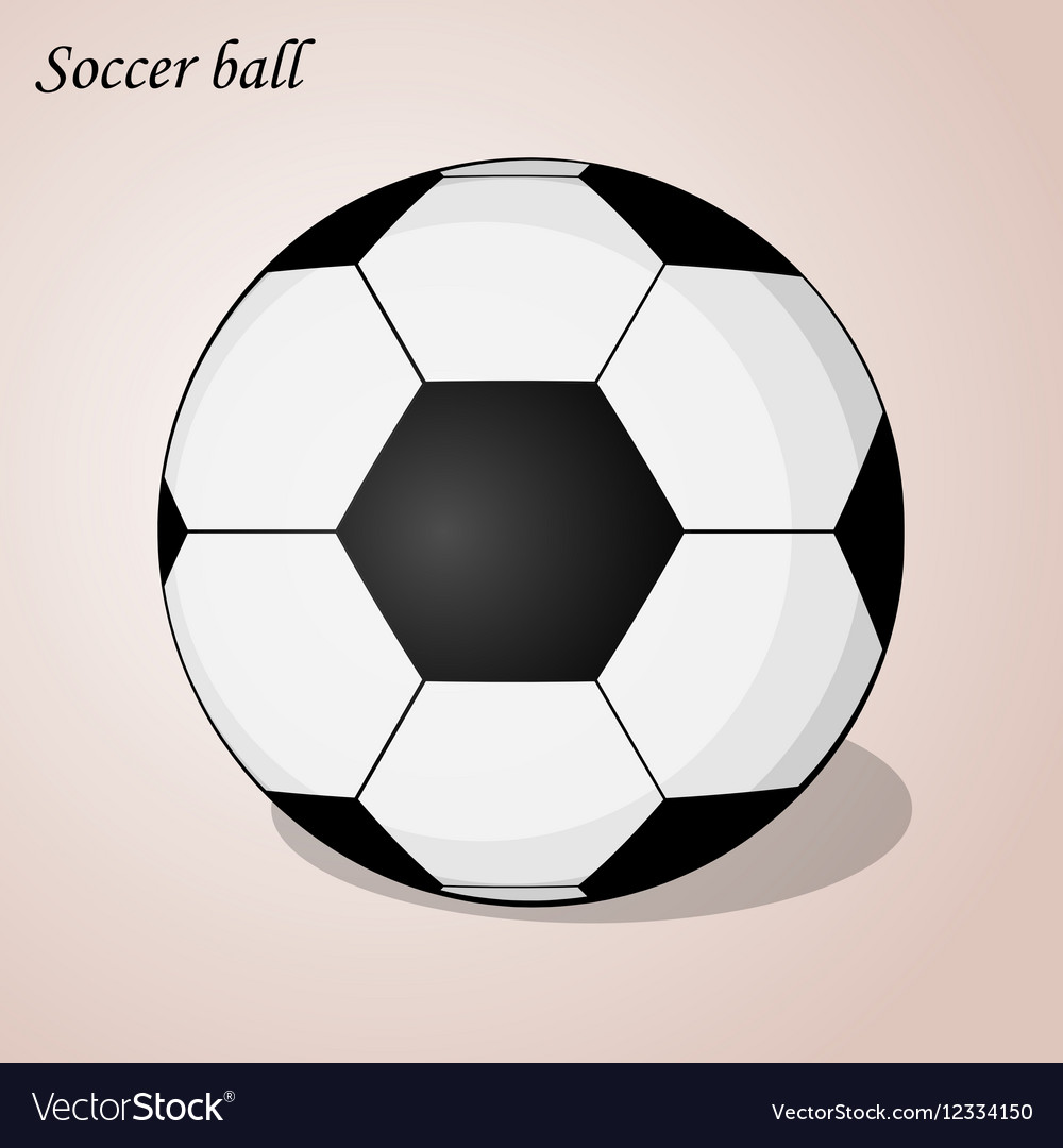 Soccer ball isolated on a pink background Simple