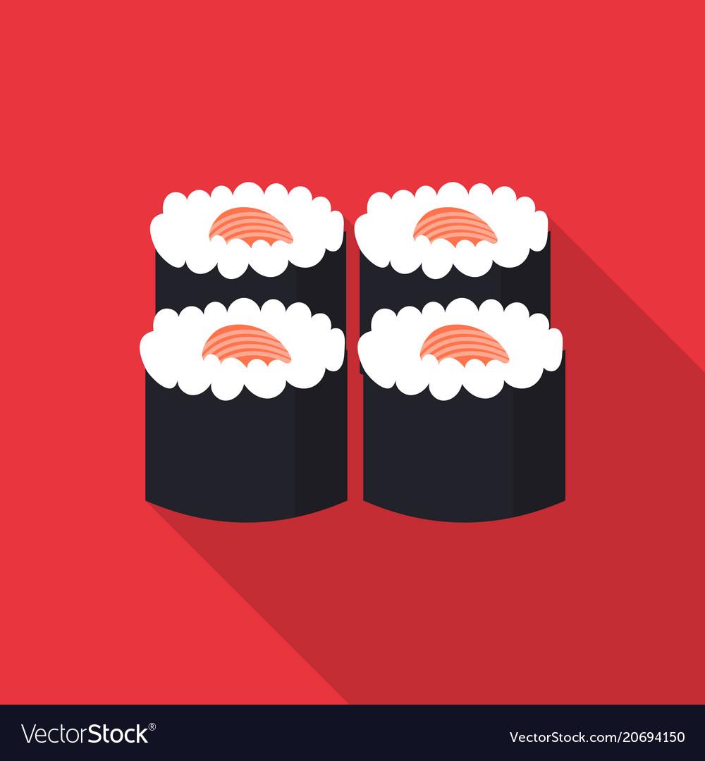Sushi icon flat style