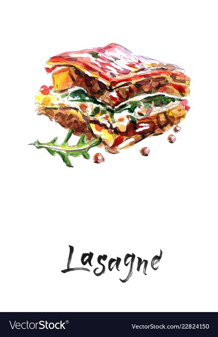 Tasty lasagne with meat covered with cheese