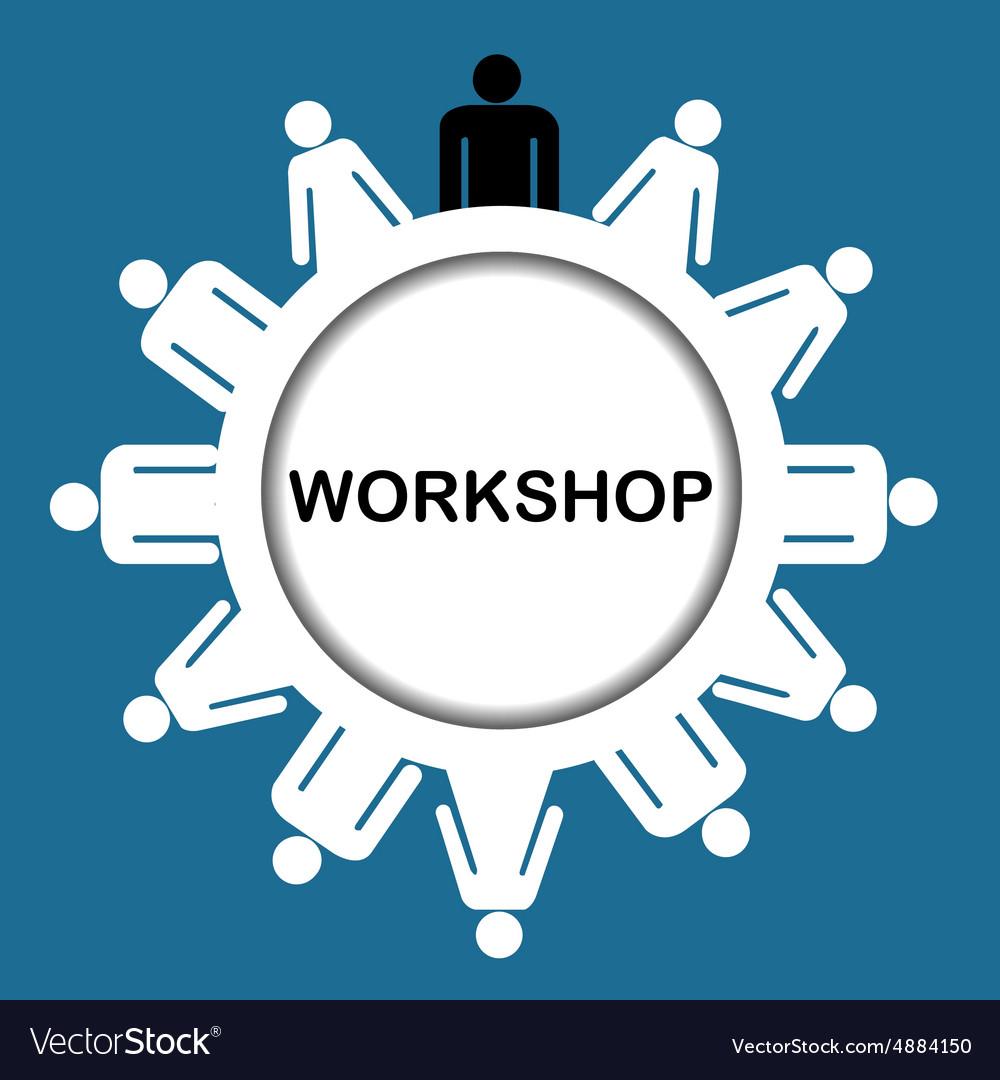 Workshop icon Royalty Free Vector Image - VectorStock