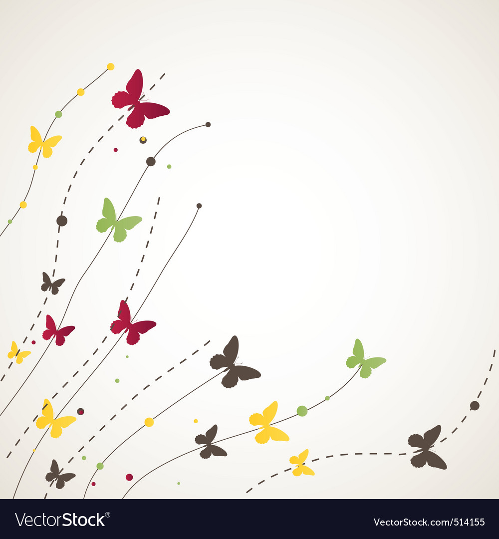 Background with butterfly vector illustration