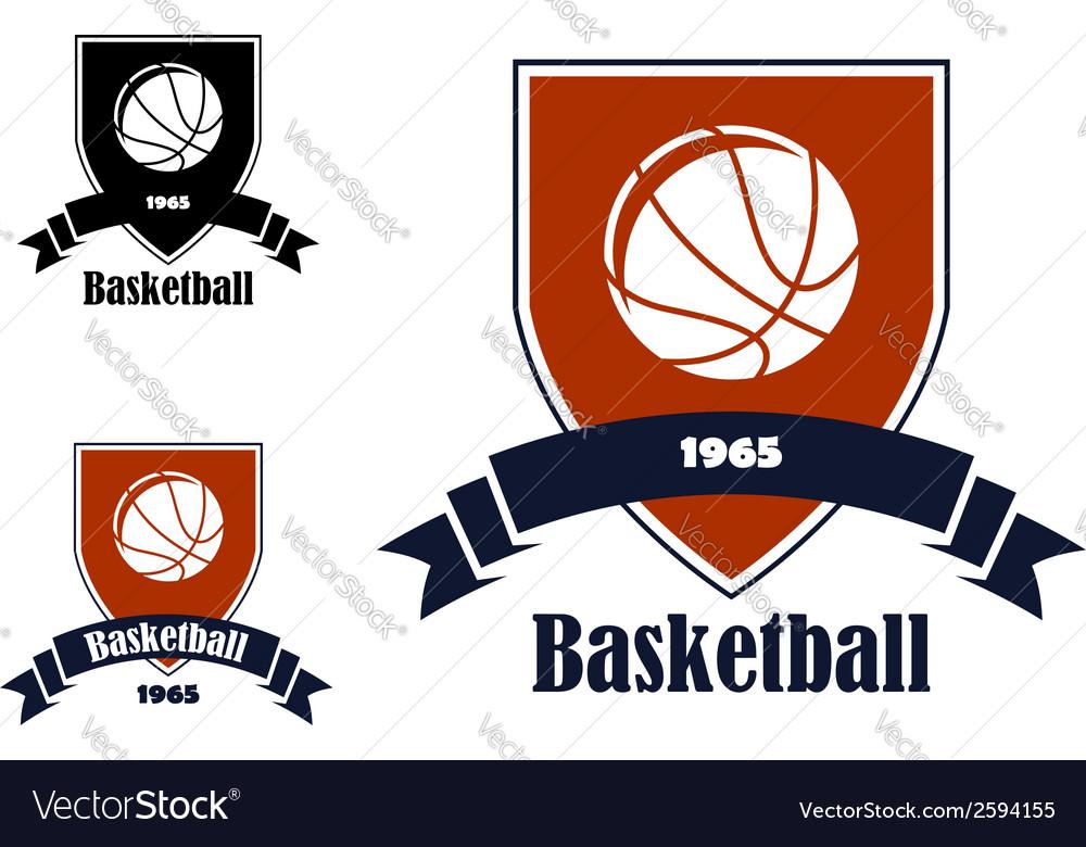 Basketball sports emblems and symbols