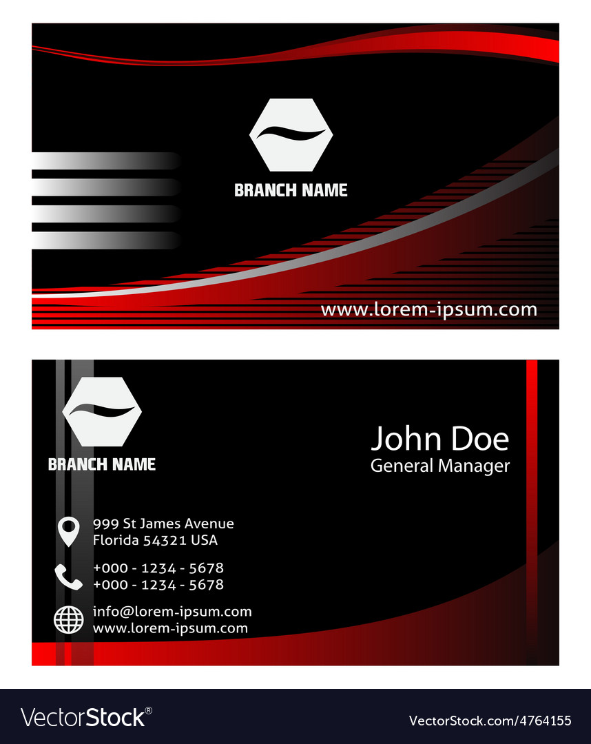 Creative business cards design vector image