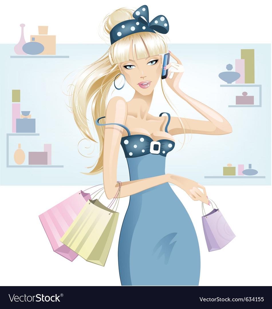 Gossip girl vector image