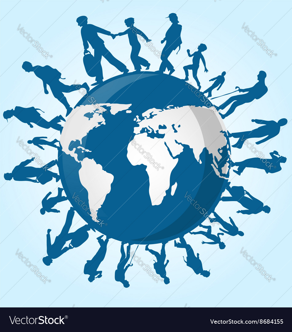 Immigration people on world map royalty free vector image immigration people on world map vector image gumiabroncs Gallery
