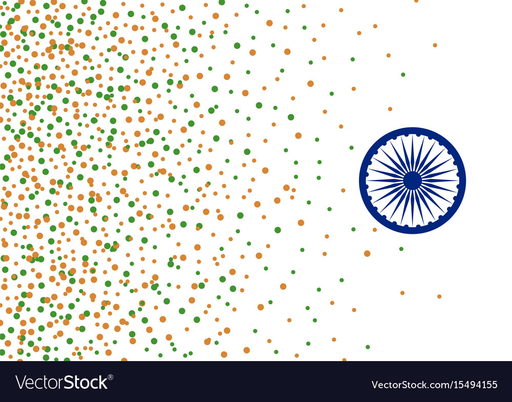 India 15 august independence day background vector image