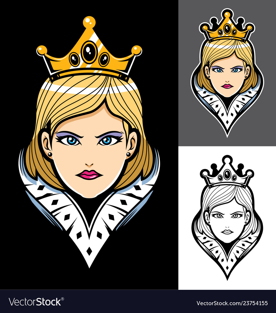 Queen face mascot
