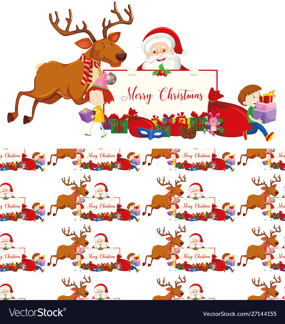 Seamless background design with christmas theme