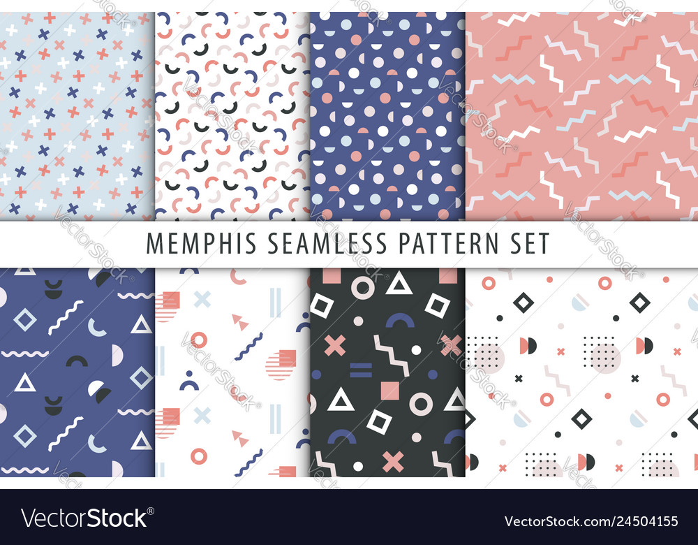 Set abstract geometric prints collection of