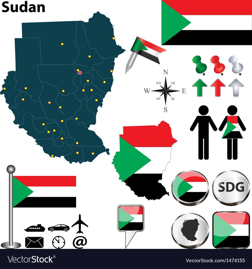 Sudan map on