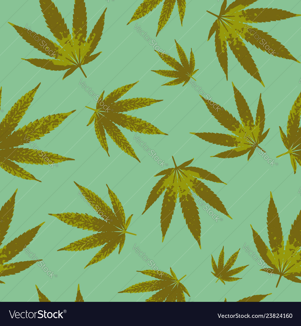 Cannabis seamless pattern design - background with