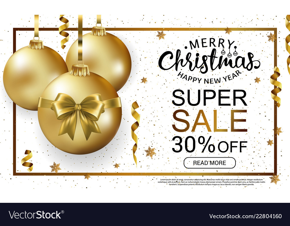 Christmas sale horizontal banner template