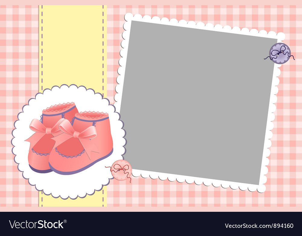 Cute template for babys card