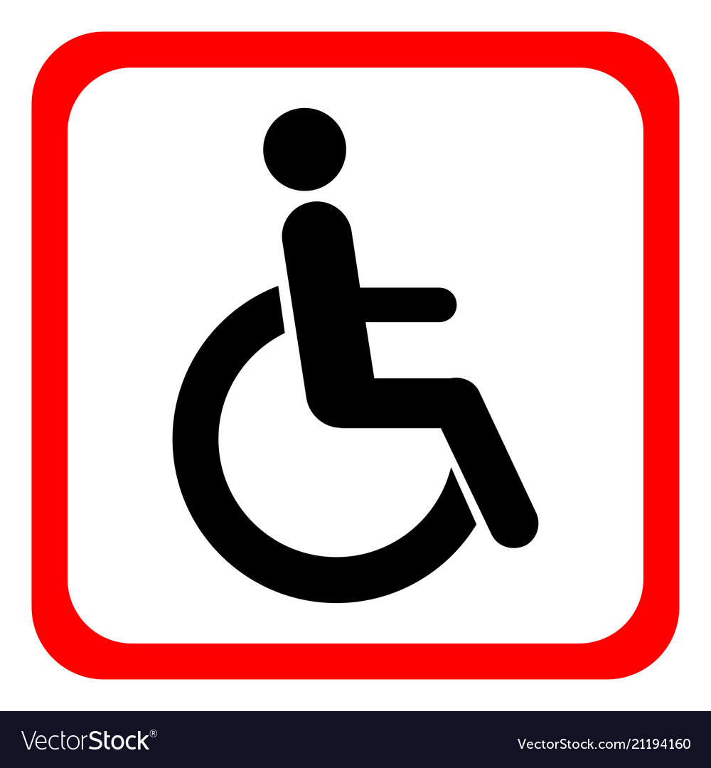 Disabled wheelchair icon disable symbol logo