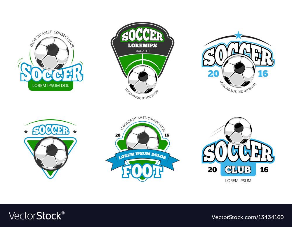 Football soccer club logo badge templates