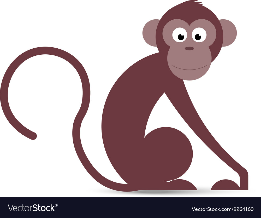 Funny cartoon monkey in