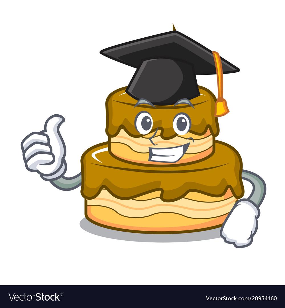 Wondrous Graduation Birthday Cake Character Cartoon Vector Image Personalised Birthday Cards Beptaeletsinfo