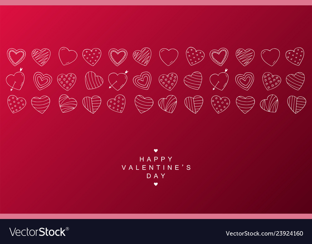 Happy valentines day background with creative