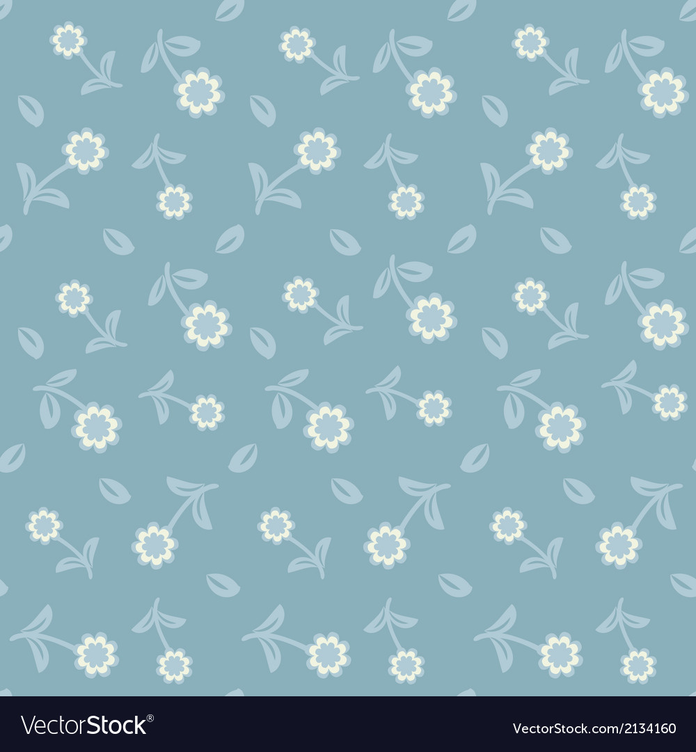 Seamless vintage pattern with colorful flowers