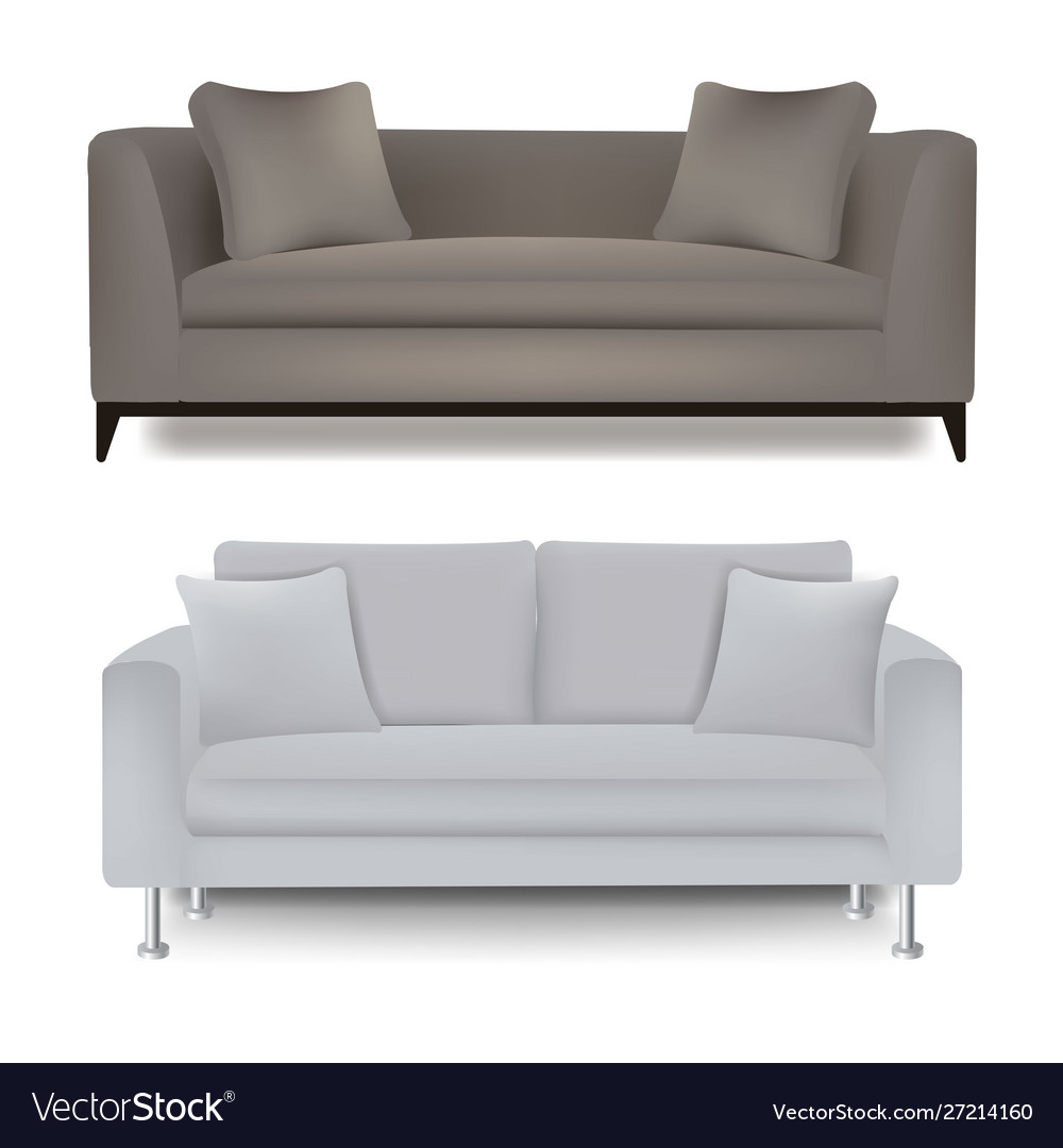 Two sofa bed with isolated white background