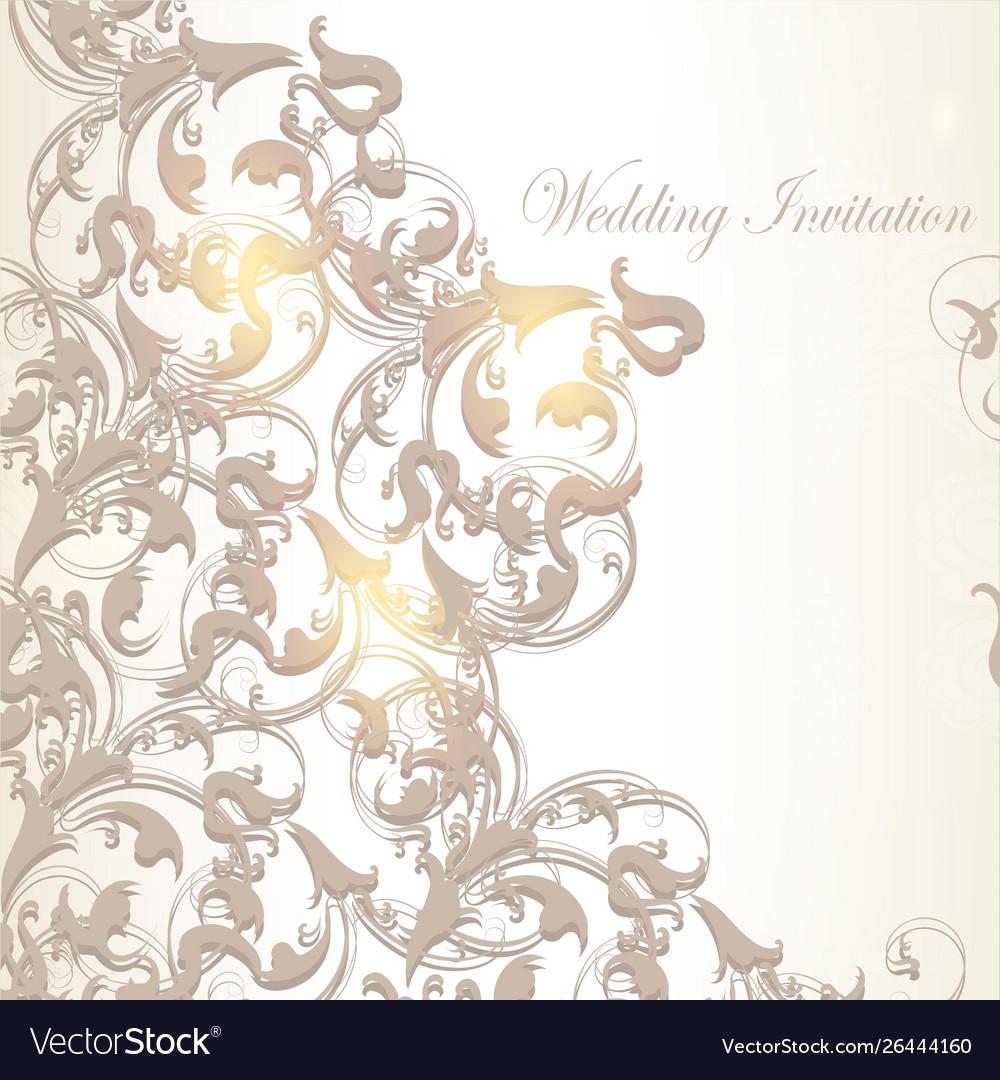 Wedding invitation card in vintage style