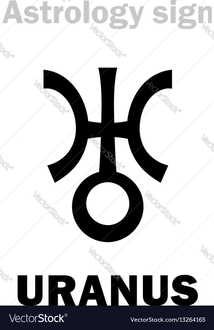 Astrology Planet Uranus Royalty Free Vector Image
