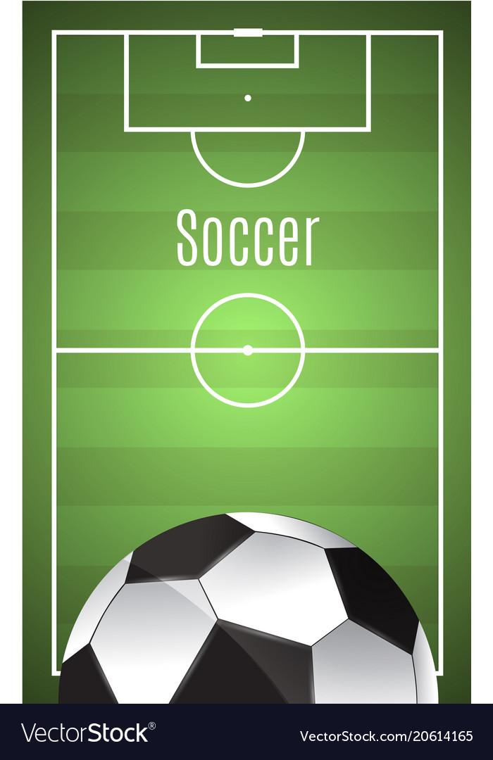 Ball lies on the grass soccer game