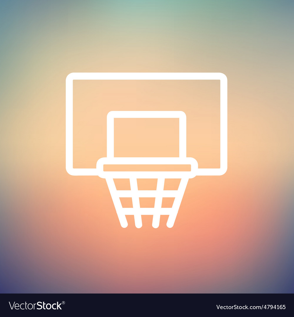 Basketball hoop thin line icon