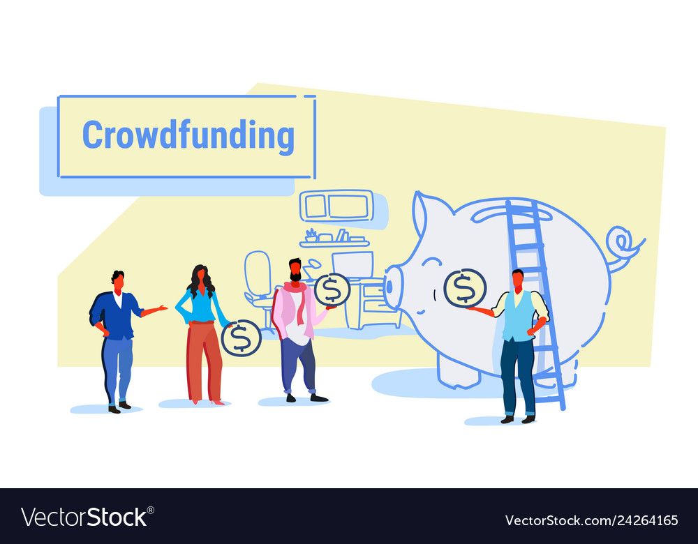 Businesspeople group investment money investor