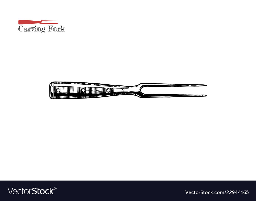 carving fork vector