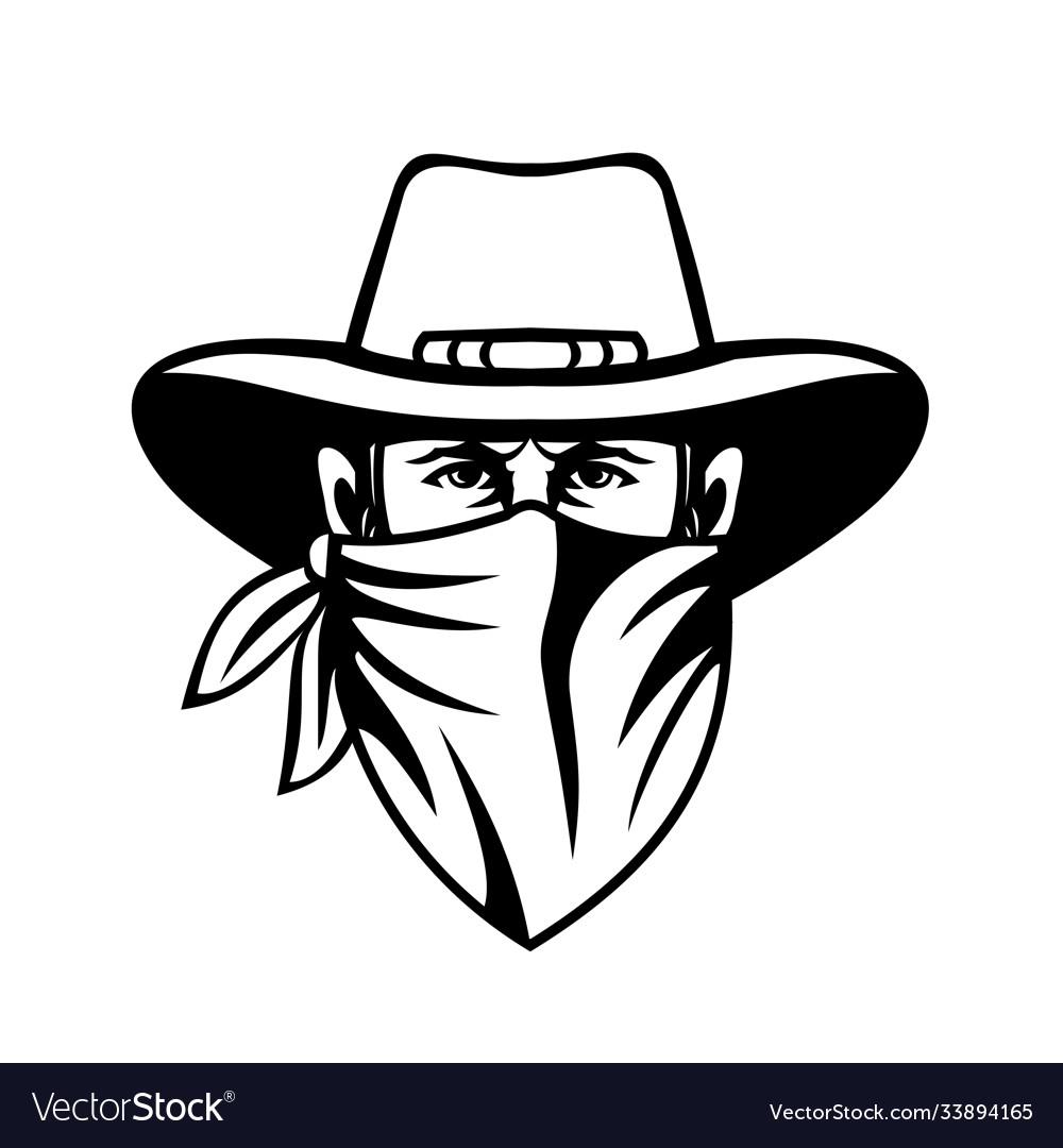 Cowboy bandit outlaw highwayman or bank robber