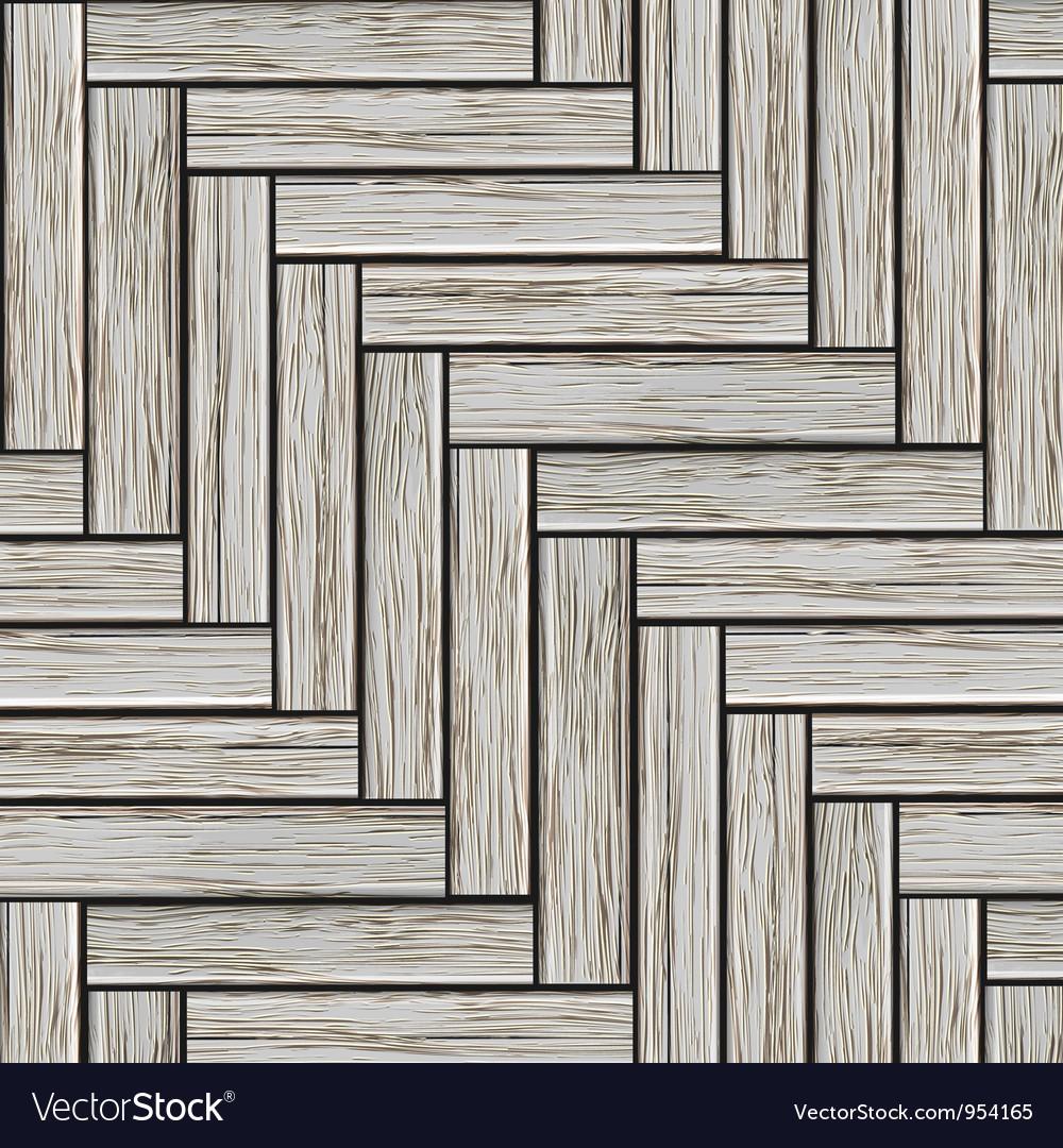 Grey wood parquet vector image