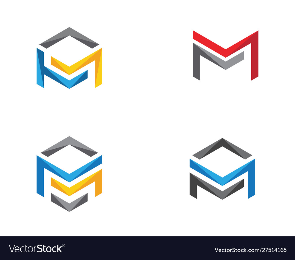 M logo hexagon icon