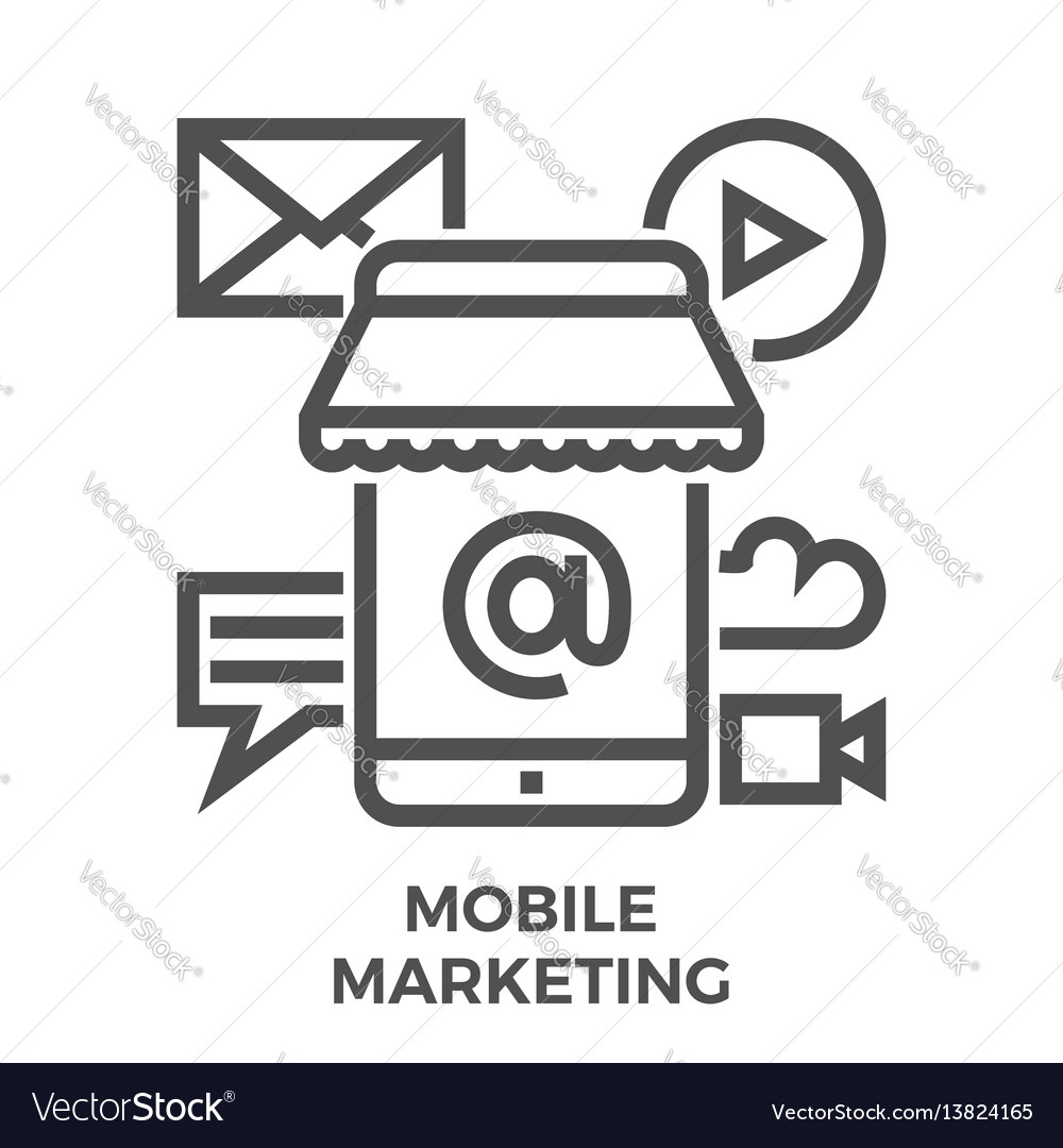 Mobile marketing icon vector image