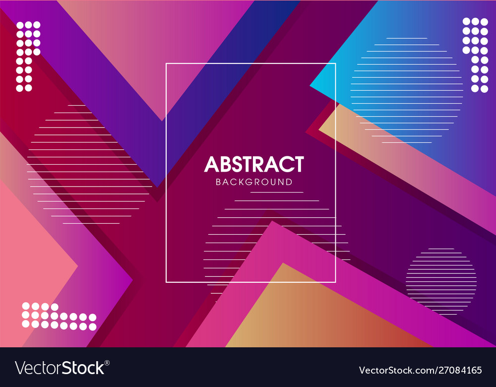 Modern colorful trendy background