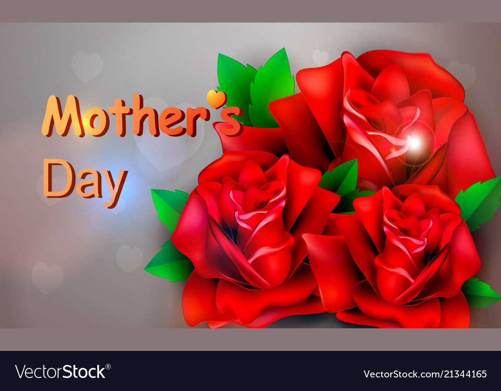 Red rose concept mother s day