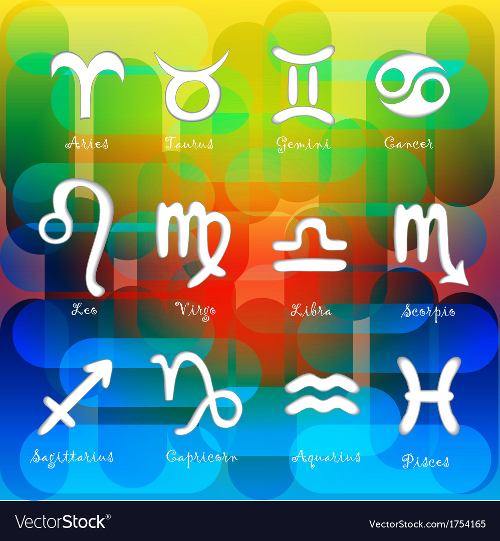 Set of astrological zodiac symbols Horoscope signs