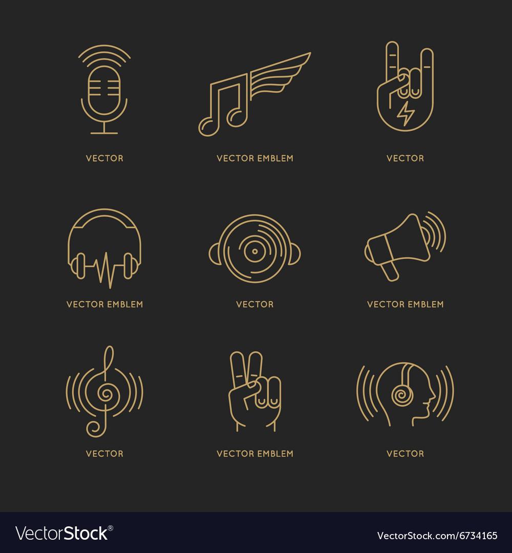 Set of logo design templates vector image