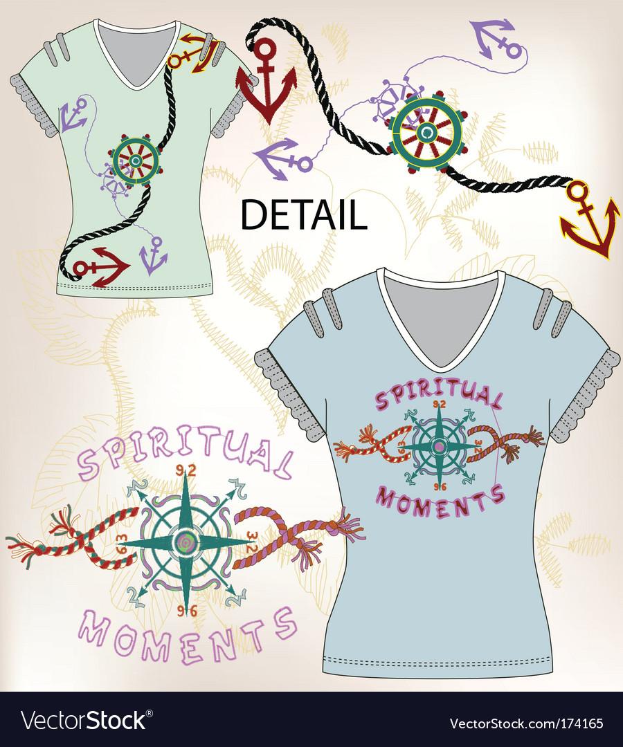 Shirt design vector image