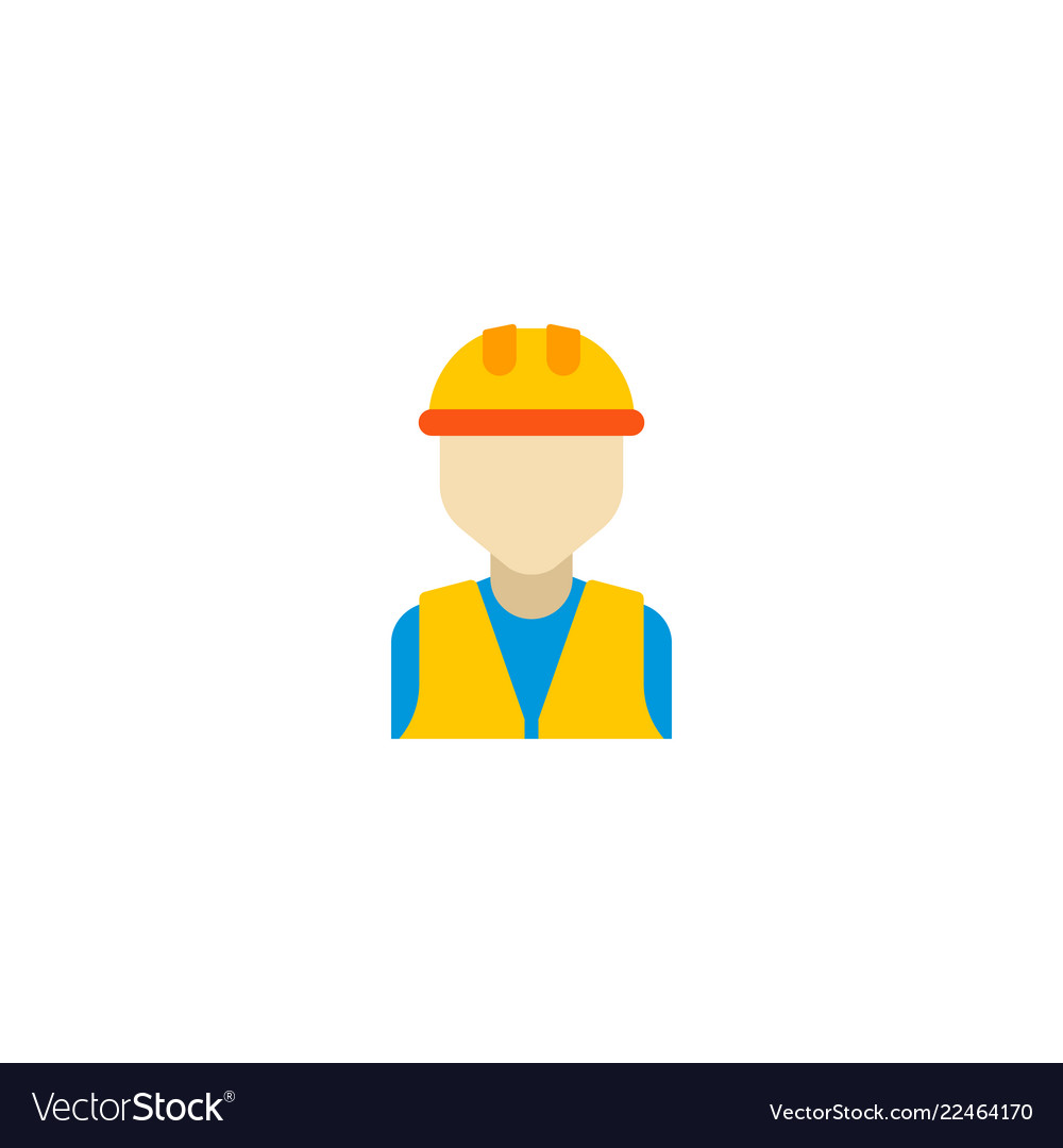 Builder icon flat element of