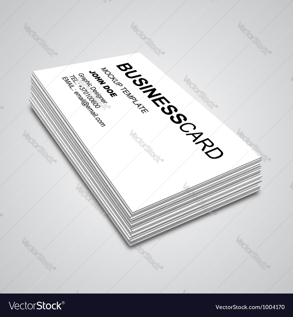 Business card mockup royalty free vector image business card mockup vector image colourmoves